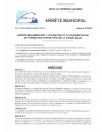 ARRETE 2325-21 UTILISATION DU PLATEAU MULTISPORTS