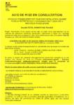 Affiche avis de mise en consultation total marketing France