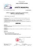 Arreté 2302 – autorisation ouverture du parc Soucy