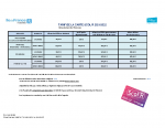 Essonne -Tableau tarif 21-22-CD91