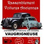 Rassemblement de voitures anciennes avec la participation des Bielles de Fontenay